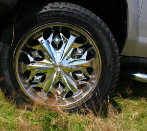 chrome 20in wheels for Hummer H3