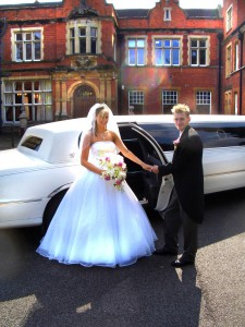 oakwood manor weddingm limo